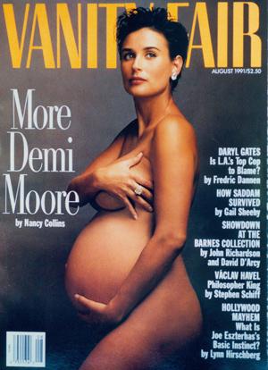 Demi Moore enceinte Vanity Fair