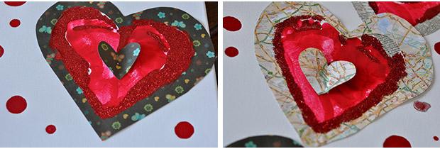 Saint Valentin créative : coeur empreinte