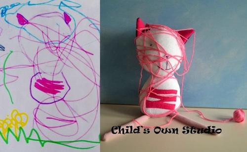 Dessin d'enfant en jouet